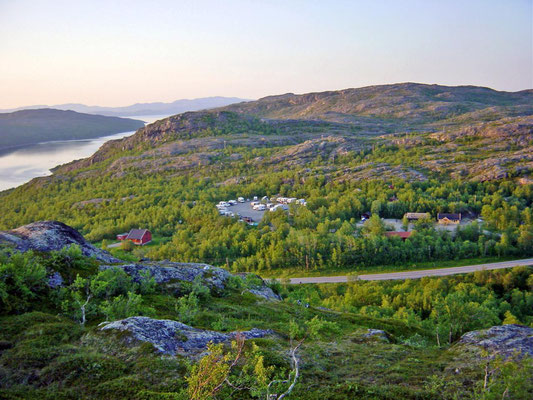 Camping Kirkenes Noord Noorwegen. Dicht bij  de Russische grens.