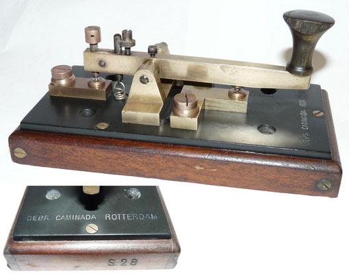 Morse Key Nr S.28  Gebr. Caminada Rotterdam. ~1900