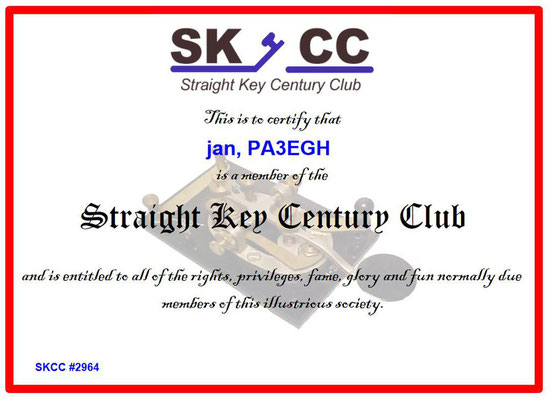 straight key century club jan van ooijen.