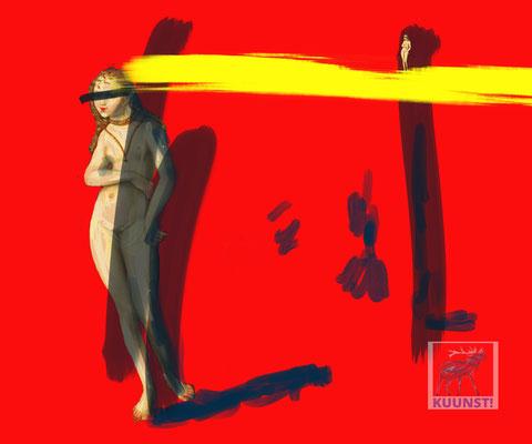 Eva mit Gelbstrahl