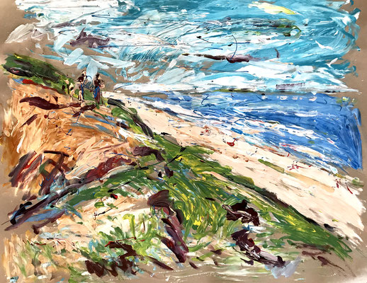 Am Roten Kliff 3/ Acryl auf Papier/ ca. 100 cm x 80 cm