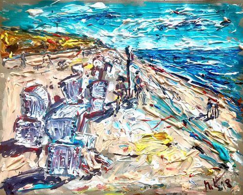 Am Roten Kliff 2/ Acryl auf Papier/ 50 cm x 40 cm