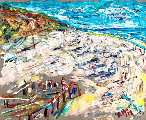Am Roten Kliff 1/ Acryl auf Papier/ 50 cm x 40 cm