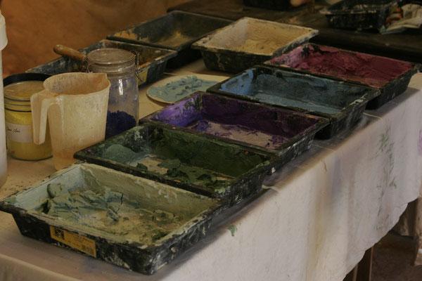 Fabrication des mélanges pour enduits -stucs
