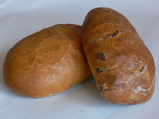 Ciabatta und Olivenciabatta (100% Weizenmehl T.550)