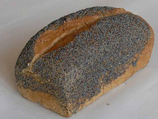 Mohn-Hefebrot - mit 84% Dinkel- und 16% Kamutvollkornmehl
