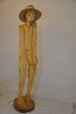 OT, Pappelholz, Motosägenrauh, ca. 170cm
