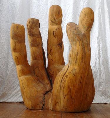 """Hand der Hilfe"", Buchenholz, ca. 100cm*120cm"