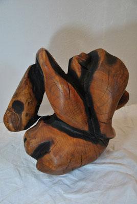 OT, Apfelholz verbrannt, Durchmesser: 60cm