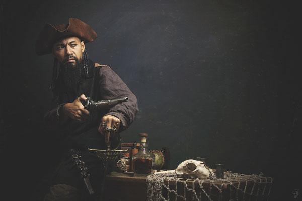 photographe jeu de rôle mise en scène pirate