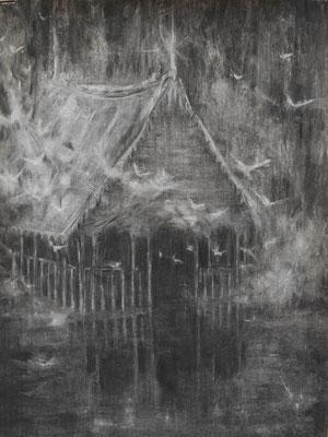 This place, 2014. Houtskool op papier, 100x70cm.