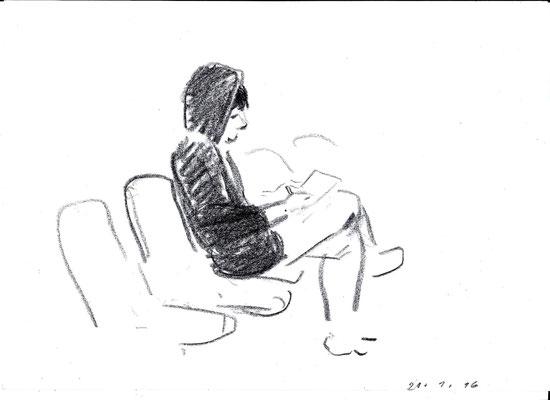 Eine Zuschauerin