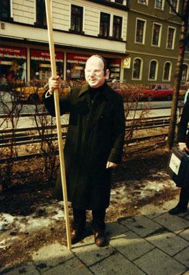Erich Kiesl, Münchens Oberbürgermeister 1984, Straßenaktion zur Oberbürgermeisterwahl