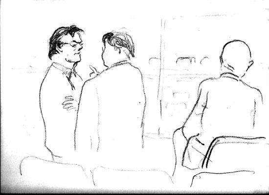 Zuschauer in einer Pause