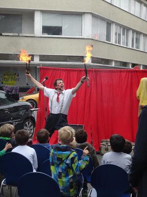 Clown Pibi Glix (Peter Becker) präsentierte Spaß ohne Ende