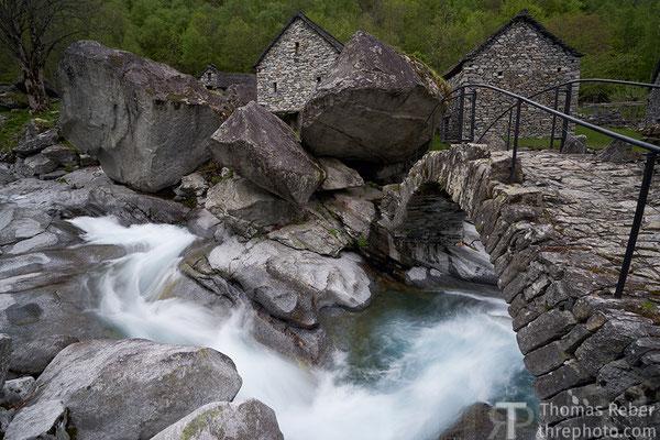 Switzerland, val Calnegia, Foroglio, Puntid