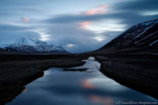 Iceland, sunset at midnight