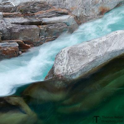 Switzerland, Lavertezzo, flows of water