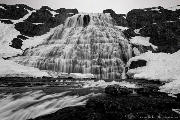 Iceland, Dynjandi, waterfall