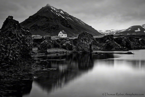 Iceland, Snaefellsnes, white house