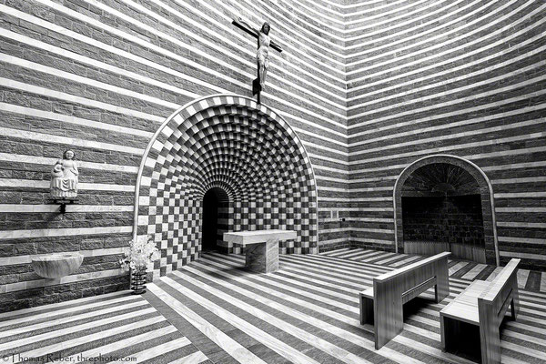 Switzerland, Mogno, Mario Botta, church