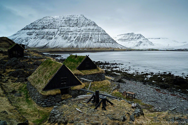 Iceland, Westfjord, old houses