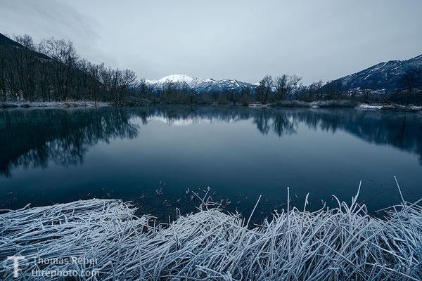 Switzerland, Bolle di Magadino, Frozen