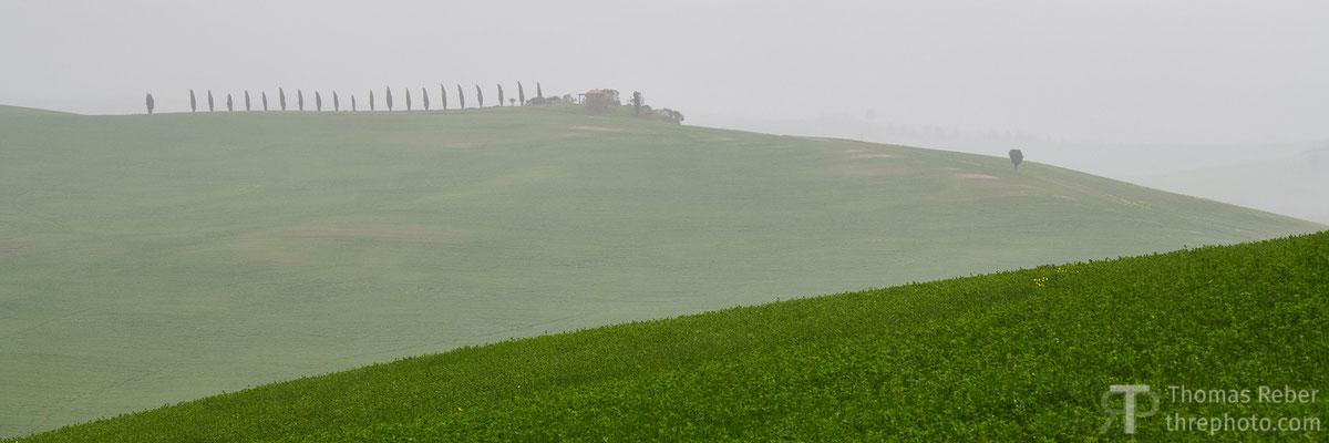 Italy, Val'Orcia, raining
