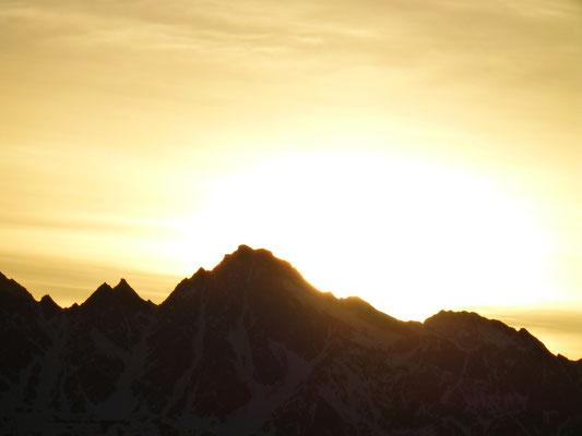 Die Gipfel glühen