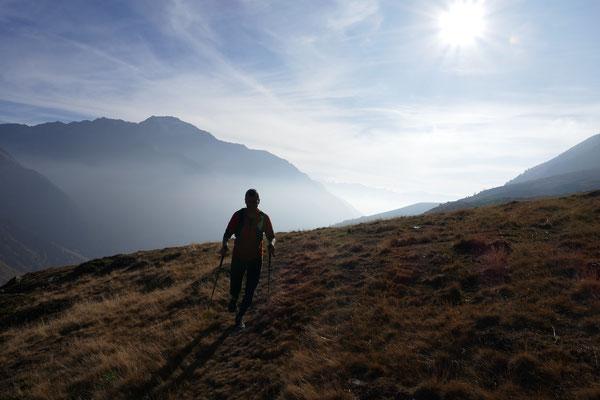 Franz hechelte hinten nach... Blick ins Tal zurück