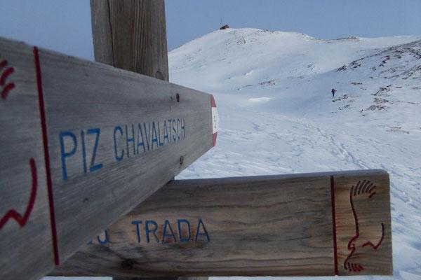 Die Richtung wurde uns angezeigt - Franz im Gipfelhang