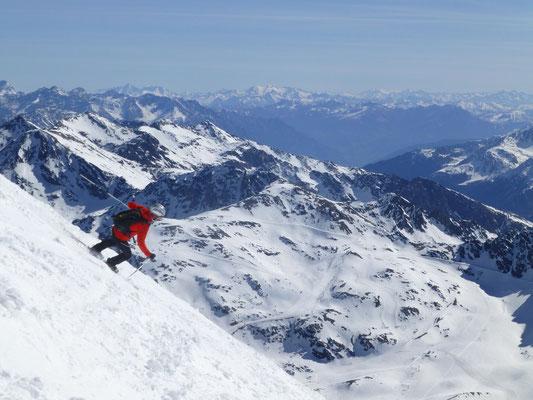 Skigebiet Sulden wird angesteuert