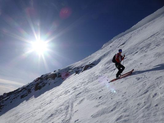 Stefan im Gipfelhang zur Suldenspitze