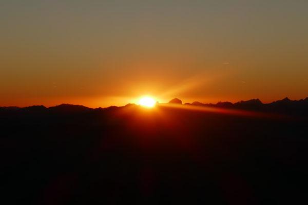verschwindet die Sonne