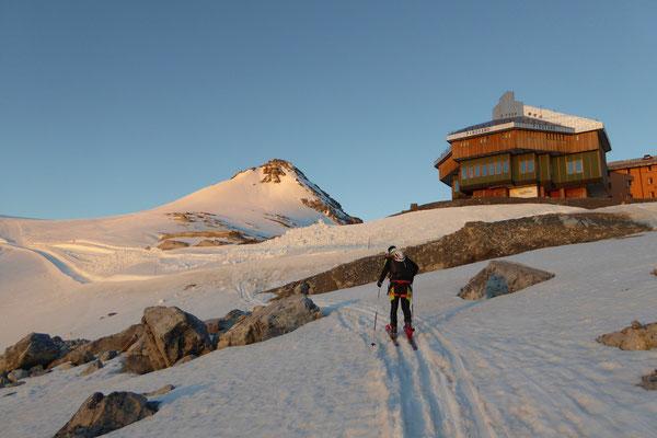 Patti G. bereits am Gletscher