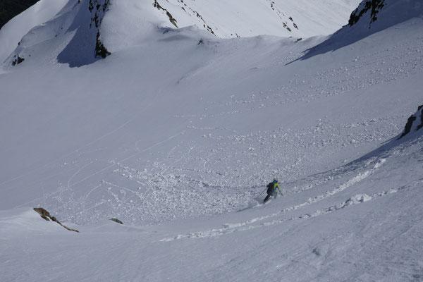 dann konnten die Skier angeschnallt werden