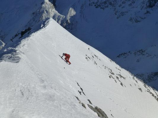Toni vor dem Austieg, etwas vor dem Gipfel