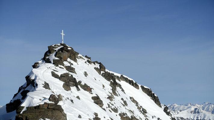 die letzten Meter zum markanten Gipfel
