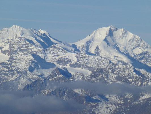 Blick zum Piz Palü und Bernina