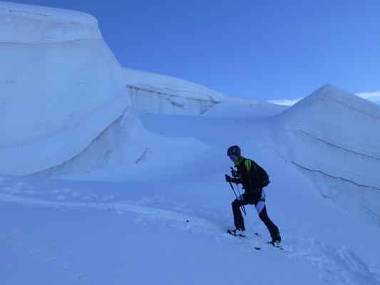 Stefan inmitten der Gletscherwelt