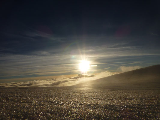 Die Sonne hatte den Kampf gegen die Wolken nun im Griff