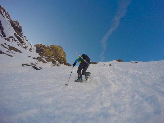 Einstieg zum Gipfelhang