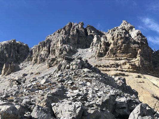 felsiger Gipfelaufbau