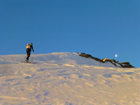 Der Mond zeigte uns heute die Richtung