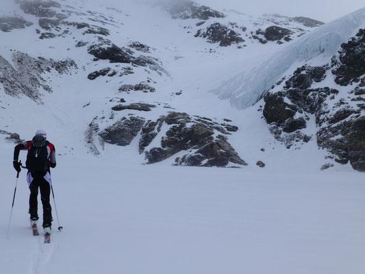 Am Gletscher dann war es merklich kälter