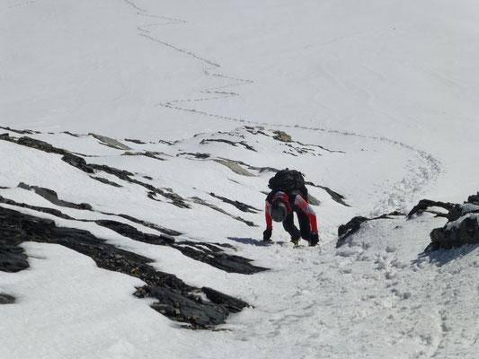 Einstieg Gipfelhang - direkt -