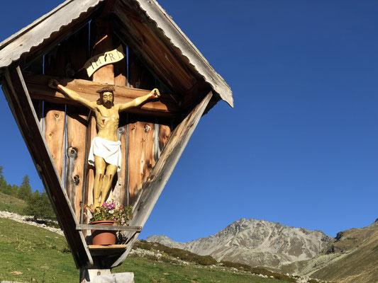 Blick von der Schleiseralm zum Muntpitschen - Bergtol