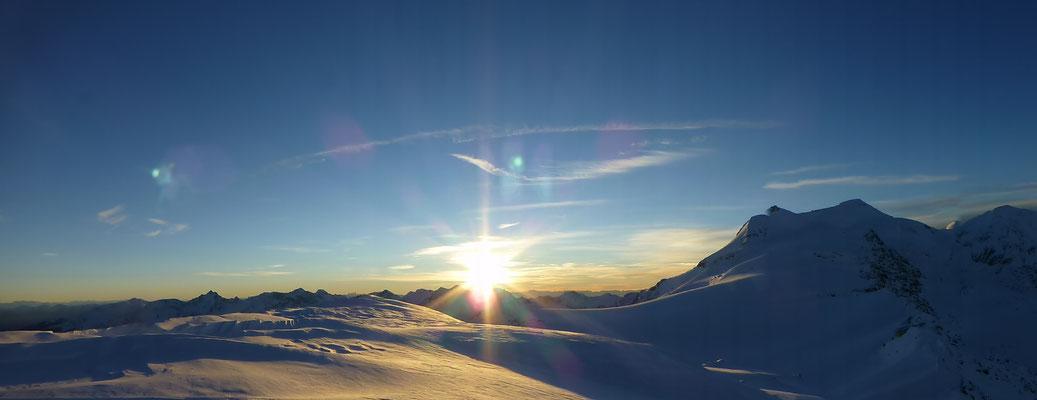Wunderschönes Panorama bod es uns heute