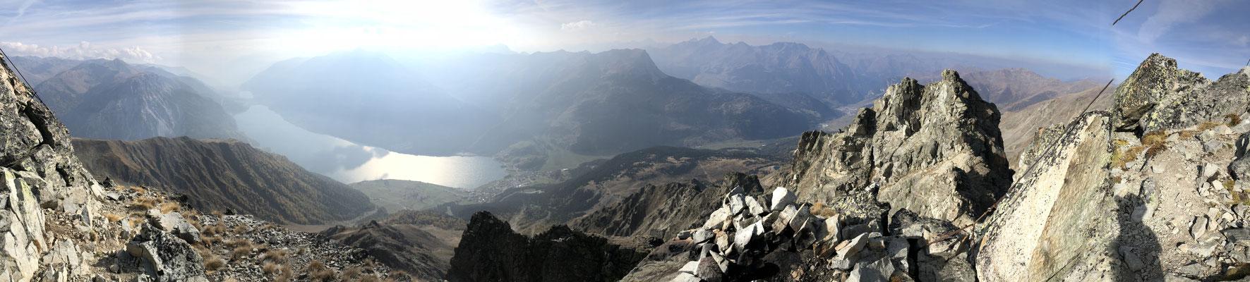 Piz Lad und im Hintergrund die Silvretta