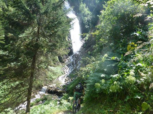 auch Wasserfälle waren zu bestaunen